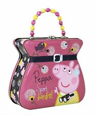 CutesyPie The Tin Box Company Pink Peppa Pig Carry All Tin Purse & Lunchbox BD