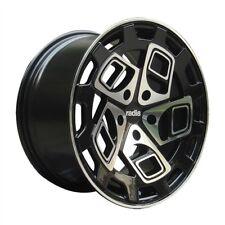 "19"" RADI8 R8CM9 ALLOY WHEELS FITS AUDI A3 A4 A6 VW SEAT BLACK MACHINED"