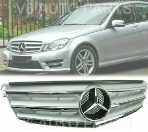 REF10 FRONT RADIATOR GRILLE FOR 2007 TO 2014 MERCEDES BENZ C - Class W204 SALOON