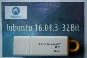Lubuntu Linux 16.04 Complete Operating System/Software on 8gb Branded USB 32bit