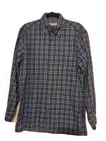 Ermenegildo Zegna Men's Long Sleeve Shirt - Size L Plaid Print, Italian Made