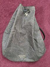 VICTORIA'S SECRET Backpack Tote Metallic Glitter Cinch Shop Bag Drawstring Gray