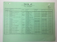 ONE TREE HILL set used 2004/2005 TENTATIVE PRODUCTION SCHEDULE