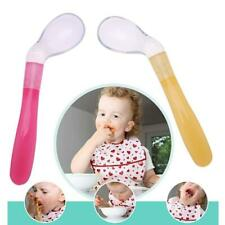 Kids Soft Silicone Large 16cm Feeding Training Flatware Baby Rice Paste Spoon