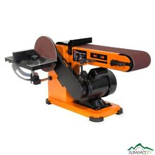 4 in. x 36 in. belt and 6 in. disc corded sander with steel base | wen switch