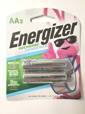 Energizer RECHARGE Power Plus (2) AA Rechargeable Batteries BRAND NEW/UNOPENED