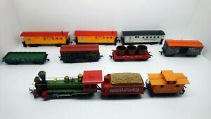 Mantua HO Train W&ARR 4-6-0 Steam Locomotive, Tender & Rolling Stock Lot
