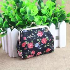Handbag Retro Women Small Wallet Girls Change Coin Purse Hasp Clutch Card Holder Black