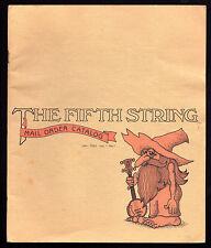 Musical Instrument Catalog FIFTH STRING 1981 Berkeley CA Guitar BANJO Dobro ETC