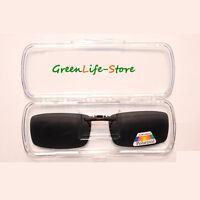 Clip On Specs Car Driving Polarized Polarised Sunglasses 100% UVA&UVB BLACK-SGSG