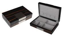 2 Wahl Schmuckbox Schmuckkassette In Holz mit Metallbeschlag