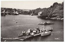 Cornwall; Bodinnick Ferry, Fowey, RP PPC, by Overland Views, Unused, no 27/284