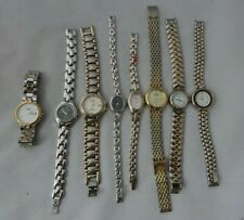 8 ladies fashion watches quartz Caravelle Bulova Croton Halston others