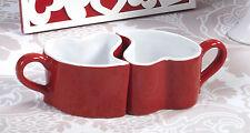6 Set da 2 tazzine cuore 5 cm porcellana,Gift Box, Collezione Mandorle by Paben