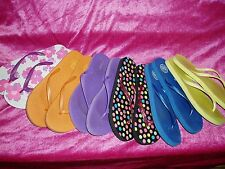 """WOW!!!!! Lot of 12 (6pair), GIRL'S FLIP FLOP'S"""", Size 7/8, Old Navy, Kohl's, Fun"""