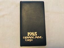 1985 Pan Am Airlines Cargo Vintage Diary Calendar Notebook