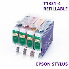 1set compatible T1331 ink refillable cartridges for Epson T12 T22 TX420W N11