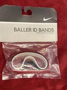 Nike Vintage 2005 Baller id Bands Bracelets RED BLACK WHITE 3 Pack New