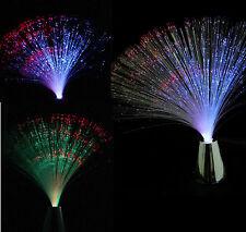 Chrome Multi Colore cambiando LED FIBRE OTTICHE LUCE FONTANA di notte calmante Lampada