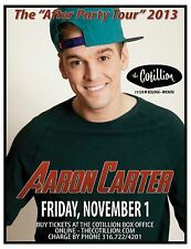 "AARON CARTER ""AFTER PARTY TOUR 2013"" WICHITA CONCERT POSTER - Hip Hop, Pop Music"