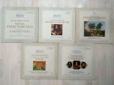 LOT OF 5 ARCHIV GERMANY STEREO ITEMS,5 LPS:SYMPHONY,CONCERTO,PIANO,VIOLIN,WIND