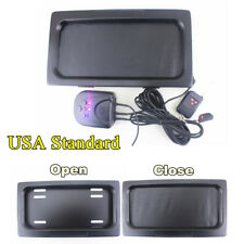 US Hide-Away Shutter Cover Up Electric Stealth License Plate Frame w/ Remote
