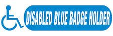 Disabled Blue Badge Holder. Car/Van Window Sticker. x 1. Size 200x65mm