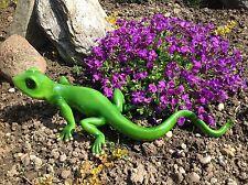 XL Echse 50cm groß grün / gold, Garten Teich Pool Dekofigur Figur Eidechse