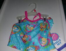 NEW Toddler Girls Disney Frozen 2 Piece Tanktini Bikini Swimsuit Size 2T