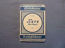 Grieben Reiseführer Band 60, Der Harz, Kleine Ausgabe, Berlin 1922