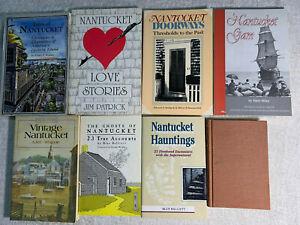 NANTUCKET MASSACHUSETTS BOOK LOT OF 8 Tales, stories, legends, etc