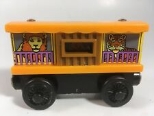 Thomas and Friends Wooden Railway Zoo Car Train with Lion Tiger and Monkey