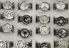 New Style Lots 25pcs Stainless Steel Shell Mix Design Cutting Fashion Top rings