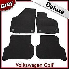 VW Golf Plus 2005-2013 Round Eyelets Tailored LUXURY 1300g Carpet Car Mats GREY