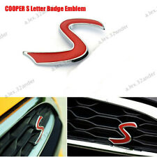 1X MINI COOPER S GRILL BADGE REPLACEMENT EMBLEM METAL WITH FITTING GRILLE SET