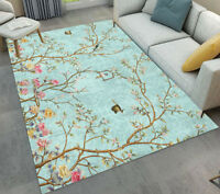 Spring Flower Birds Living Room Floor Mat Soft Yoga Carpet Home Decor Area Rugs