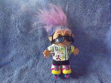 Russ roller skate troll with mauve hair, helmet,goggles