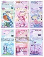 Bermuda 2 + 5 + 10 Dollars 2009-2018 Hybrid Set of 3 Banknotes 3 PCS  UNC