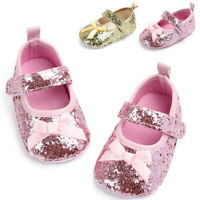 Toddler Newborn Baby Girls Crib Shoes First Walkers Sandals Shoes Princess Shoes