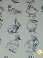 CLASSIC LAWN CRAFT & APPAREL FABRIC   BABY ANIMALS     1 METRE