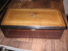 Walzenspieldose Gehäuse Spieluhr Spieldose Uhr antique case cylinder music box