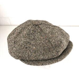 Vintage Union Label cab hat size 7 gray with multi color specs hbx37