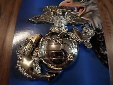 U.S MARINE CORPS EGA USMC OVERSIZED EAGLE GLOBE & ANCHOR WALL MEDALLION PLAQUE