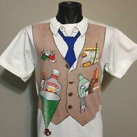 80s Vintage 1982 Bartender T Shirt Mens L Bar Drink Whiskey Single Stitch Tee