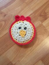 Crocheted Chicken/rooster Scrubbies/washcloth
