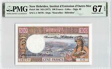 New ListingNew Hebrides Nd (1977) P-18d Pmg Superb Gem Unc 67 Epq 100 Francs