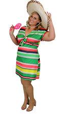 Mexican Sombrero Senorita Senora Womens Costume Plus Size 16,18,20,22