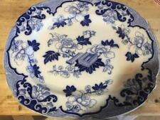 Cauldon Antique Candia Platter Flow Blue LARGE Beautiful Condition