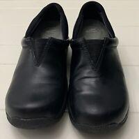 Dansko Arden Elastic Slip On black leather Shoes Loafers US Size 8