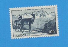 ANDORRA - scott C1 first air mail  - unused hinged - Chamois - 1960